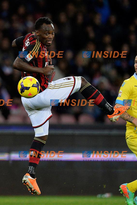 Michael Essien Milan <br /> Napoli 08-02-2014 Stadio San Paolo - Football Calcio Serie A 2013/2014 Napoli - Milan Foto Andrea Staccioli / Insidefoto