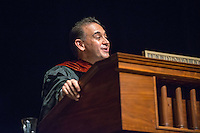 Jorge Gonzalez. Incoming first-years start the year at Occidental College's 127th annual Convocation ceremony on Aug. 28, 2013 in Thorne Hall.<br /> (Photo by Marc Campos, Occidental College Photographer)