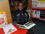 Goodnews Kuria pictured with his certificate for the Circus Stars summer reading project at the library. Photo: Colin Bell/pressphotos.ie