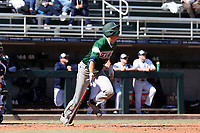 CARY, NC - FEBRUARY 23: Freddy Sabido #33 of Wagner College hits the ball during a game between Wagner and Penn State at Coleman Field at USA Baseball National Training Complex on February 23, 2020 in Cary, North Carolina.