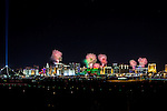 "America's Party: Las Vegas New Year's Eve 2016. This year's spectacular fireworks show theme ""On Top of The World""  frorm On Top of the New Konami corporate office on Sunset"