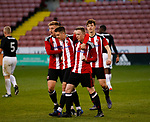 Jordan Hallam celebrates his goal from the penalty spot during the U18 Professional Development League 2 play off semi final match at  Bramall Lane, Sheffield. Picture date: April 21st 2017. Pic credit should read: Simon Bellis/Sportimage
