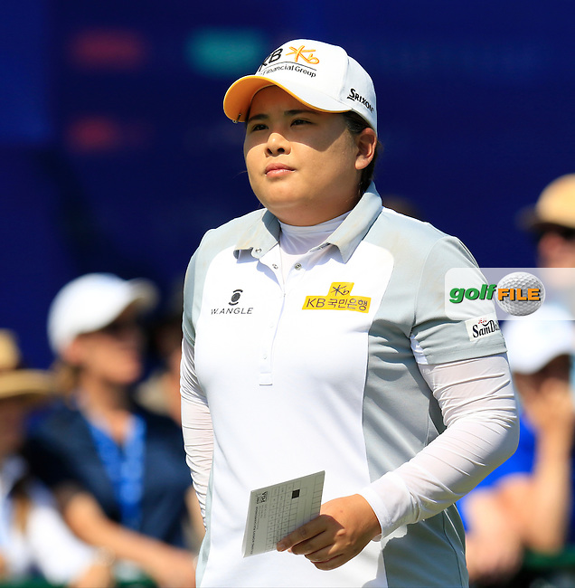 Inbee Park (KOR) on the 10th tee during Sunday's Final Round of the 2015 KPMG Women's PGA Championship held at Westchester Country Club, Harrison, New York, USA. 6/14/2015.<br /> Picture &copy; Golffile/Eoin Clarke