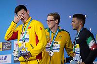 SUN Yang CHN gold medal, HORTON Mack AUS silver medal, DETTI Gabriele ITA bronze medal<br /> swimming<br /> Men's 400m freestyle final<br /> day 10 23/07/2017 <br /> XVII FINA World Championships Aquatics<br /> Photo © Giorgio Perottino/Deepbluemedia/Insidefoto