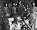 Iraq 1963 .February 3rd, a generator captured from the Iraqi army  in the cave of Chamy Rezan.Irak 1963.Un generateur pris a l'armee irakienne dans la grotte de Chamy Rezan