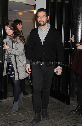 NEW YORK, NY - DECEMBER 7:  Mexican actor and singer Alfonso Herrera spotted leaving 'Good Day New York' where he talked about his role in the FOX television series 'The Exorcist'  in New York, New York on December 7, 2016.  Photo Credit: Rainmaker Photo/MediaPunch