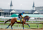 LOUISVILLE, KENTUCKY - MAY 02: By My Standards, trained by W. Calhoun, exercises in preparation for the Kentucky Derby at Churchill Downs in Louisville, Kentucky on May 2, 2019. Scott Serio/Eclipse Sportswire/CSM