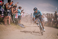 eating dust on pav&eacute; sector #2<br /> <br /> Stage 9: Arras Citadelle &gt; Roubaix (154km)<br /> <br /> 105th Tour de France 2018<br /> &copy;kramon