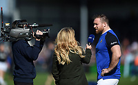 Henry Thomas of Bath Rugby is interviewed for BT Sport during the pre-match warm-up. Gallagher Premiership match, between Exeter Chiefs and Bath Rugby on March 24, 2019 at Sandy Park in Exeter, England. Photo by: Patrick Khachfe / Onside Images