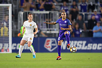 Orlando, FL - Saturday March 24, 2018: Orlando Pride forward Marta Vieira da Silva (10) flicks the ball during a regular season National Women's Soccer League (NWSL) match between the Orlando Pride and the Utah Royals FC at Orlando City Stadium. The game ended in a 1-1 draw.