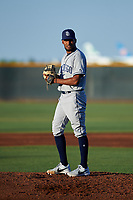 AZL Padres 1 relief pitcher Frank Lopez (17) during an Arizona League game against the AZL Indians Red on June 23, 2019 at the Cleveland Indians Training Complex in Goodyear, Arizona. AZL Indians Red defeated the AZL Padres 1 3-2. (Zachary Lucy/Four Seam Images)