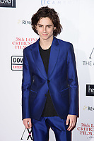 Timothee Chalamet<br /> arriving for the Critic's Circle Film Awards 2018, Mayfair Hotel, London<br /> <br /> <br /> ©Ash Knotek  D3374  28/01/2018