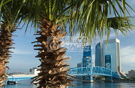 SAINT JOHNS RIVER DOWNTOWN SKYLINE JACKSONVILLE FLORIDA USA