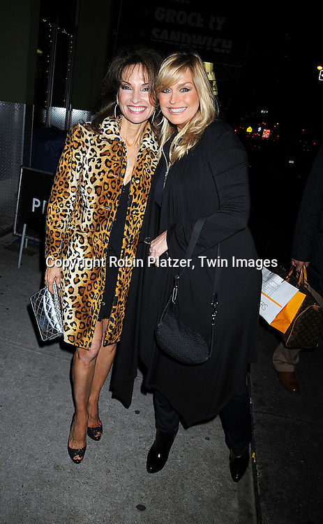 Susan Lucci and Catherine Hickland..at The All My Children Christmas Party on December 15, 2008 at Prohibition Restauant in New York City. ....Robin Platzer, Twin Images
