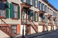 Sylvan Terrace rowhouses in the Jumel Terrace Historic District in the Washington Heights neighborhood of Manhattan in New York City.