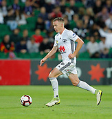 2nd February 2019, HBF Park, Perth, Australia; A League football, Perth Glory versus Wellington Phoenix; Ryan Lowry of Wellington Phoenix runs the ball out of Glorys half