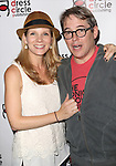 Kelli O'Hara and Matthew Broderick attend the Seth Rudetsky Book Launch Party for 'Seth's Broadway Diary' at Don't Tell Mama Cabaret on October 22, 2014 in New York City.