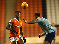 Blackpool's Armand Gnanduillet and Accrington Stanley's Ben Richards-Everton, <br /> <br /> Photographer Rachel Holborn/CameraSport<br /> <br /> The EFL Checkatrade Trophy Group C - Blackpool v Accrington Stanley - Tuesday 13th November 2018 - Bloomfield Road - Blackpool<br />  <br /> World Copyright © 2018 CameraSport. All rights reserved. 43 Linden Ave. Countesthorpe. Leicester. England. LE8 5PG - Tel: +44 (0) 116 277 4147 - admin@camerasport.com - www.camerasport.com
