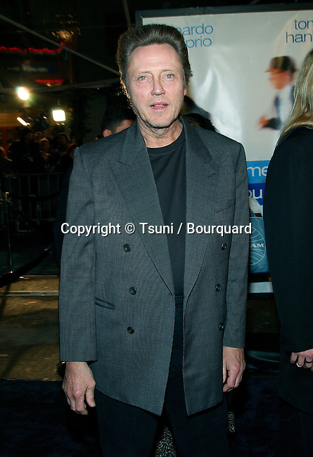 """Christopher Walken  arriving at the premiere of """"Catch Me If You Can"""" at the Mann Village Theatre in Los Angeles. December 16, 2002.           -            WalkenChristopher62.jpg"""