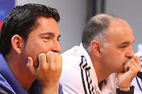 5.06.2012 Barcelona. Rueda de prensa de presentacion playoff final liga ACB. Xavi Pascual y Pablo Laso