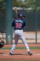 Cleveland Indians center fielder George Valera (32) at bat during an Extended Spring Training game against the Arizona Diamondbacks at the Cleveland Indians Training Complex on May 27, 2018 in Goodyear, Arizona. (Zachary Lucy/Four Seam Images)