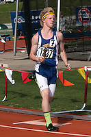 Skyler Bewley anchors Scott City to a 14th place finish in the 4x400 relay in 3:36.38 in Class 2.