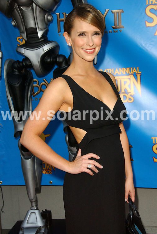 **ALL ROUND PICTURES FROM SOLARPIX.COM**.**SYNDICATION RIGHTS FOR UK, SPAIN, PORTUGAL, AUSTRALIA, S.AFRICA & DUBAI (U.A.E) ONLY**.The 34th Annual Saturn Awards held at the  Universal Hilton Hotel in Universal City in California in the USA. .This pic:Jennifer Love Hewitt.JOB REF:6728-PHZ/Albert L. Ortega    DATE:24_06_08 .**MUST CREDIT SOLARPIX.COM OR DOUBLE FEE WILL BE CHARGED* *UNDER NO CIRCUMSTANCES IS THIS IMAGE TO BE REPRODUCED FOR ANY ONLINE EDITION WITHOUT PRIOR PERMISSION*