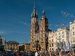 Kościół Mariacki, Rynek Główny w Krakowie, Polska<br /> St. Mary's Church, Main Market Square in Cracow, Poland