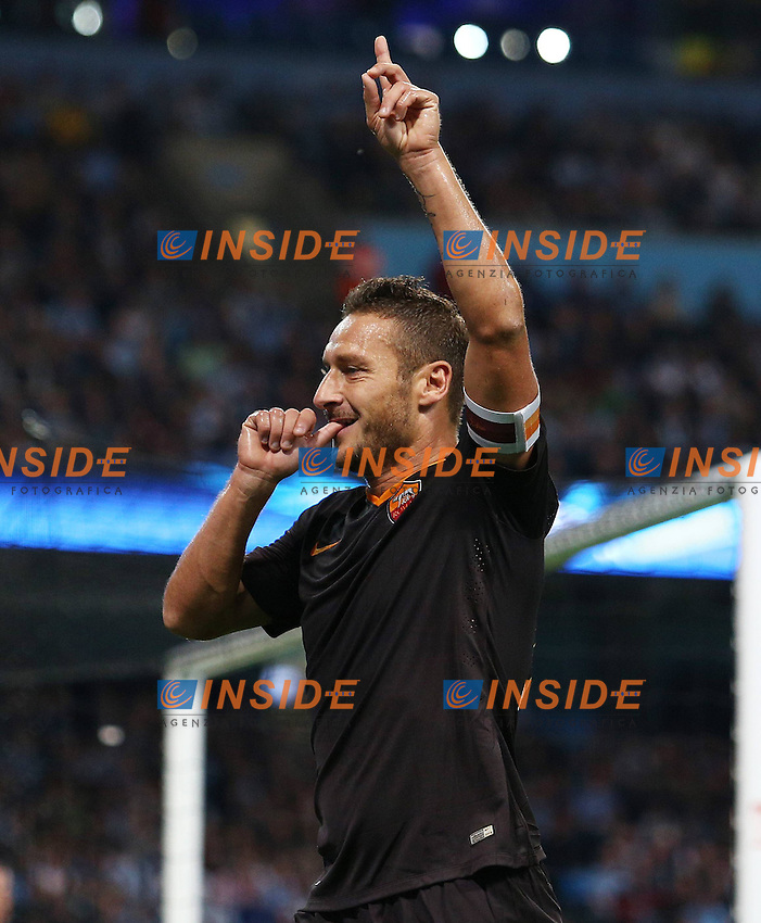Esultanza di Francesco Totti dopo il gol <br />