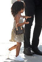 NEW YORK, NY - SEPTEMBER 8: North West, daughter of Kim Kardashian and Kanye West spotted carrying a mini Louis Vuitton purse in New York, New York on September 8, 2016.  Photo Credit: Rainmaker Photo/MediaPunch