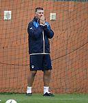 Rangers goalkeeping coach Jim Stewart