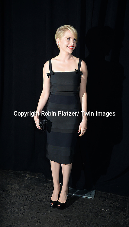 Michelle Williams  in Louis Vuitton dress attends the 2013 Whitney Gala & Studio party honoring artist Ed Ruscha on October 23, 2013 at Skylight at Moynihan Station in New York City.