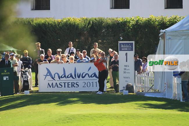 Peter Lawrie (IRL) during the 2nd day at the  Andalucía Masters at Club de Golf Valderrama, Sotogrande, Spain. .Picture Fran Caffrey www.golffile.ie