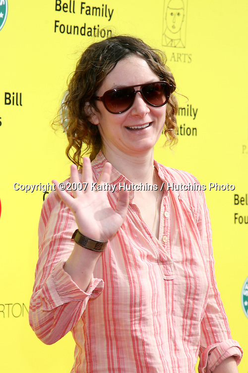"Sara Gilbert.PS Arts ""Express Yourself"" Benefit.Barker Hanger.Santa Monica, CA.November 2, 2007.©2007 Kathy Hutchins / Hutchins Photo...               ."