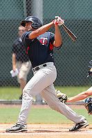 Joshua Hendricks (9) Catcher for the GCL Twins during a game against the GCL Rays on July 16th, 2010 at Charlotte Sports Park in Port Charlotte Florida. The GCL Twins are the the Gulf Coast Rookie League affiliate of the Minnesota Twins. Photo by: Mark LoMoglio/Four Seam Images