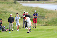 Fergal Deasy (Cork) on the 13th tee during Round 3 of The South of Ireland in Lahinch Golf Club on Monday 28th July 2014.<br /> Picture:  Thos Caffrey / www.golffile.ie