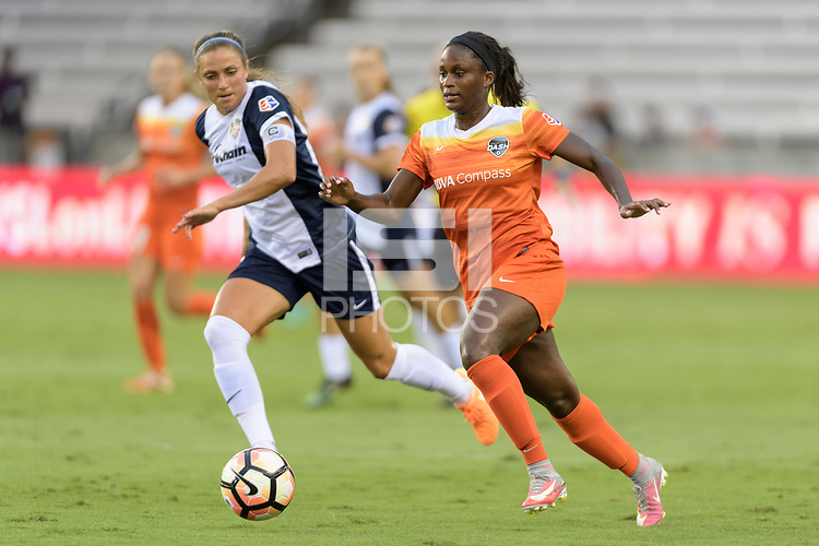 Houston, TX - Saturday July 15, 2017: Nichelle Prince during a regular season National Women's Soccer League (NWSL) match between the Houston Dash and the Washington Spirit at BBVA Compass Stadium.