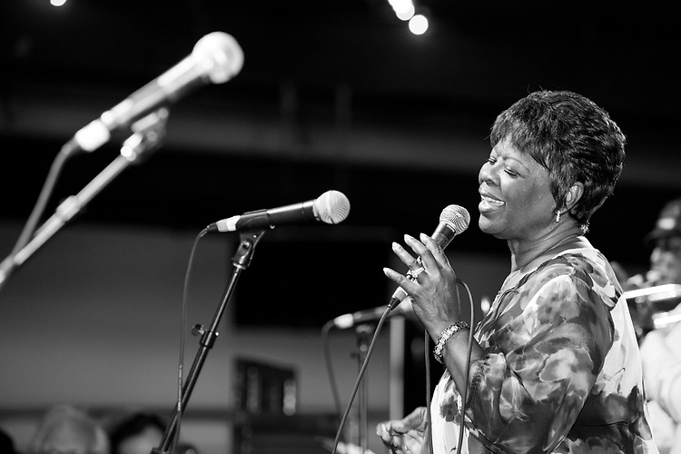 Irma Thomas performs at the Ponderosa Stomp in New Orleans on October 3, 2015.