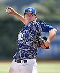 Western Nevada's Jordan Dreibelbis pitches against College of Southern Nevada at Western Nevada College in Carson City, Nev. on Friday, May 6, 2016. <br />Photo by Cathleen Allison/Nevada Photo Source