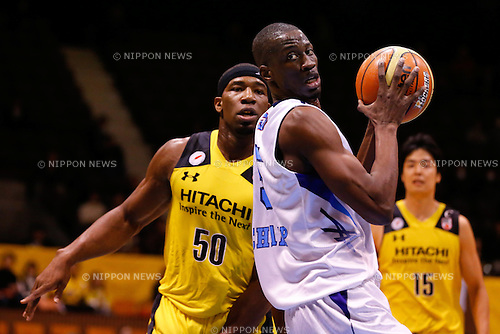 Dieye Sakamoto (Diamond Dolphins), <br /> FEBRUARY 14, 2015 - Basketball : <br /> National Basketball League &quot;NBL&quot; 2014-2015 <br /> between Hitachi Sunrockers Tokyo 97-88 Mitsubishi Electric Diamond Dolphins <br /> at 2nd Yoyogi Gymnasium, Tokyo, Japan. <br /> (Photo by AFLO SPORT) [1205]