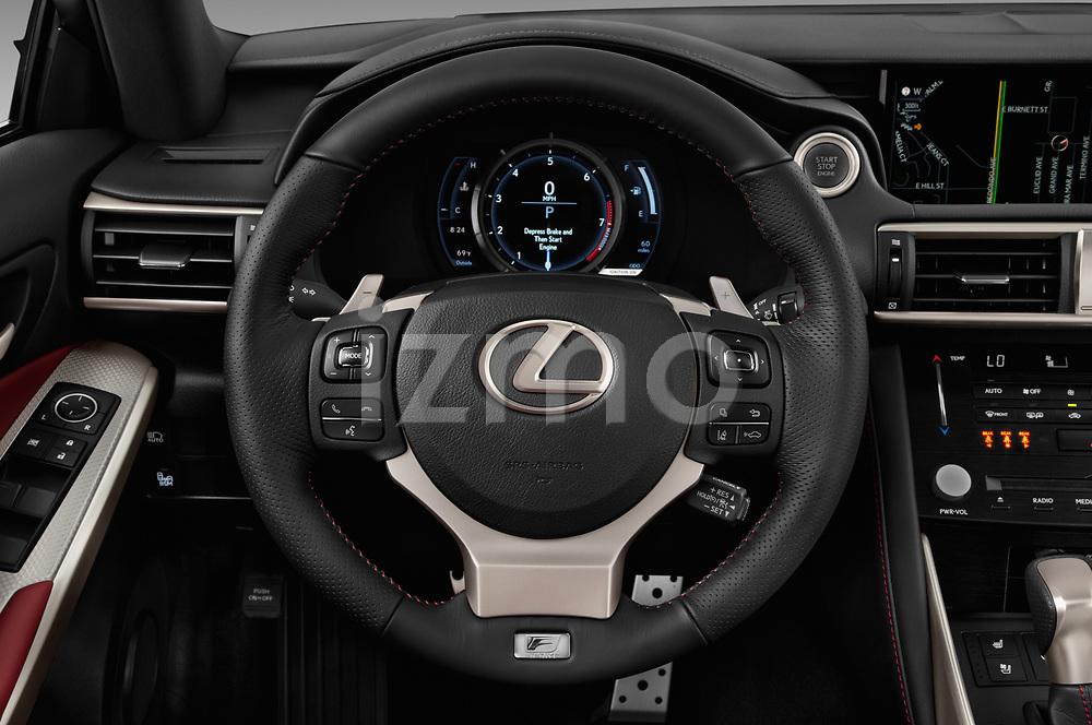 Car pictures of steering wheel view of a 2017 Lexus IS 350 4 Door Sedan Steering Wheel