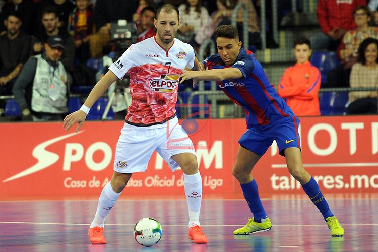 League LNFS 2016/2017 - Game 8.<br /> FC Barcelona Lassa vs ElPozo Murcia: 2-3.<br /> Cardinal vs Aicardo.