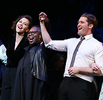 Maggie Gyllenhaal, Whoopi Goldberg, Matthew Morrison during the Curtain Call for the Roundabout Theatre Company presents a One-Night Benefit Concert Reading of 'Damn Yankees' at the Stephen Sondheim Theatre on December 11, 2017 in New York City.