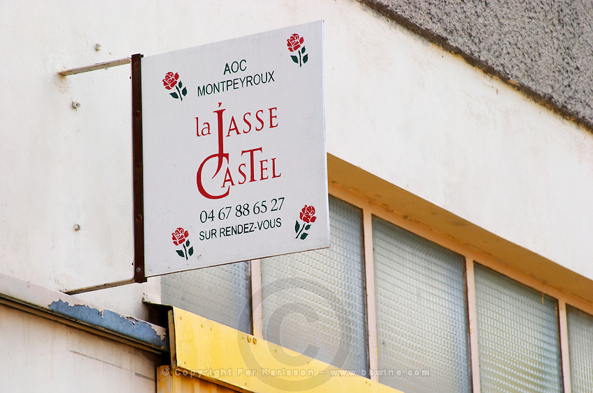 Visit by appointment. Domaine La Jasse Castel. Montpeyroux. Languedoc. The winery building. France. Europe.