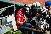 Victor Straffon<br /> .<br /> Partido de beisbol de la Serie del Caribe con el encuentro entre Caribes de Anzo&aacute;tegui de Venezuela  contra los Criollos de Caguas de Puerto Rico en estadio Panamericano en Guadalajara, M&eacute;xico,  s&aacute;bado 5 feb 2018. <br /> (Foto: Luis Gutierrez)<br /> <br /> Baseball game of the Caribbean Series with the match between Caribes de Anzo&aacute;tegui of Venezuela against the Criollos de Caguas of Puerto Rico, at the Pan American Stadium in Guadalajara, Mexico, Saturday, February 5, 2018.<br /> (Photo: Luis Gutierrez)