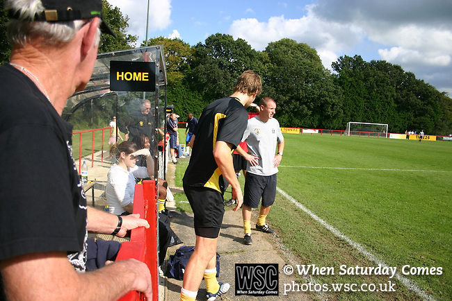 Burgess Hill Town 5 Epsom & Ewell FC 2, 13/09/2008. FA Cup. Photo by Tony Davis.