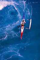 Outrigger canoeing off the Kona Coast on the Big Isalnd