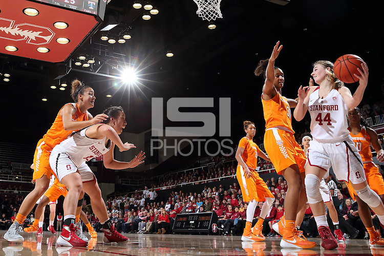 STANFORD, CA - December 16, 2015: Stanford Cardinal defeats Tennessee Lady Volunteers 69-55 at Maples Pavilion.