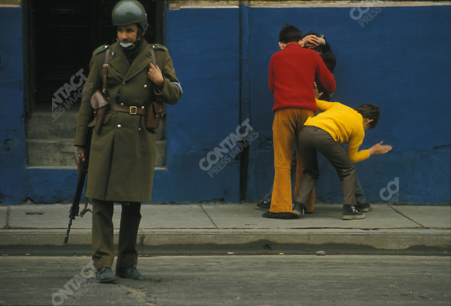 During the days following the military coup that took place on September 11, 1973. Santiago, Chile, 1973.
