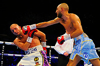 Bradley Skeete defeats Dale Evans during a Boxing Show at the Copper Box Arena on 8th July 2017